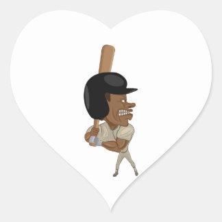 baseball batter heart sticker