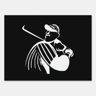 Baseball Batter Lawn Sign