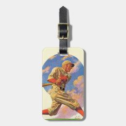 Baseball Batter Luggage Tag