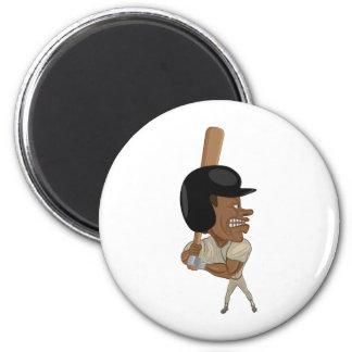 baseball batter 2 inch round magnet