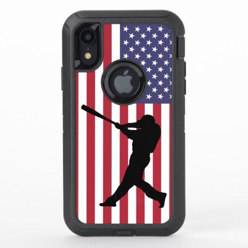 Baseball Batter on the USA Flag Phone Case