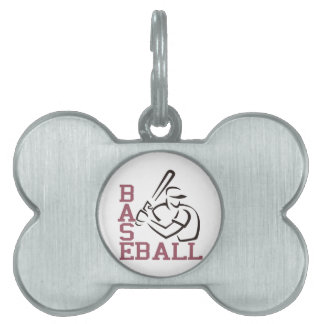 Baseball Batter Pet ID Tags