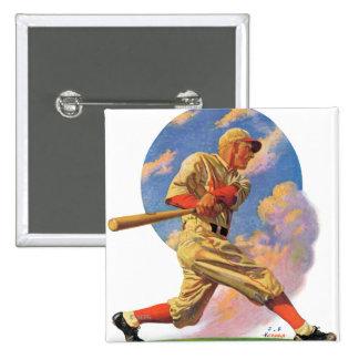 Baseball Batter Pinback Button