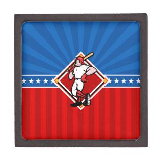 Baseball Batter Premium Jewelry Boxes
