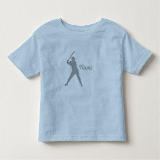 Baseball Batter Silhouette, Personalized Name Toddler T-shirt