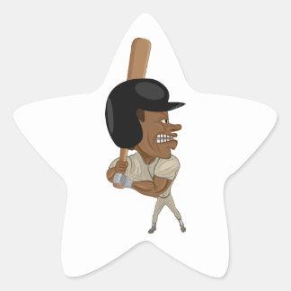 baseball batter star sticker