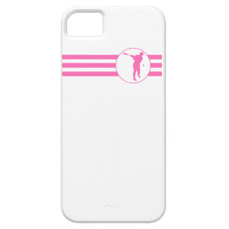 Baseball Batter Stripes (Pink) iPhone 5 Covers