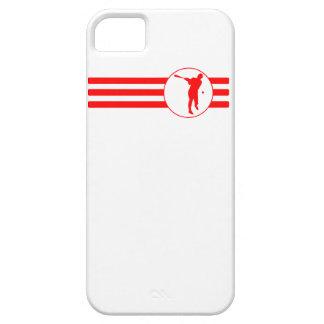 Baseball Batter Stripes (Red) iPhone 5 Case