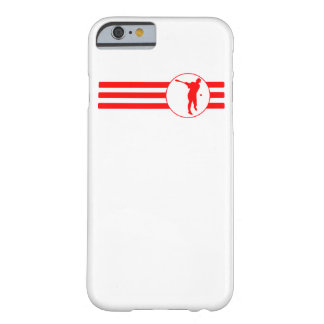 Baseball Batter Stripes (Red) Barely There iPhone 6 Case