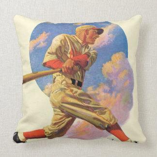 Baseball Batter Throw Pillow