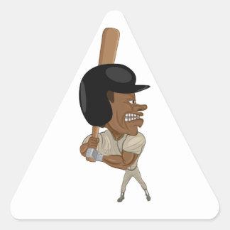 baseball batter triangle sticker