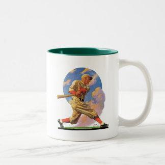 Baseball Batter Two-Tone Coffee Mug