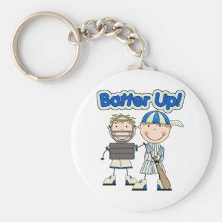 Baseball Batter Up Basic Round Button Keychain