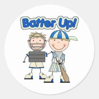 Baseball Batter Up Classic Round Sticker