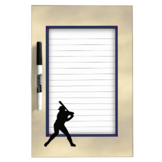 Baseball Batter Up Dry Erase Board
