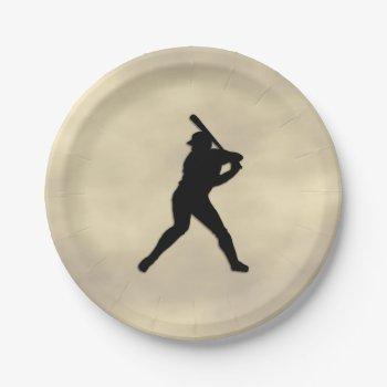 Baseball Batter Up Paper Plate