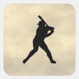 Baseball Batter Up Square Sticker