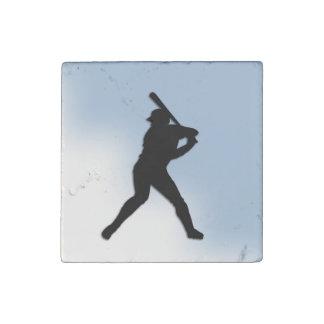 Baseball Batter Up Stone Magnet