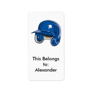 baseball batters helmet blue label