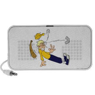 Baseball Beanball Cartoon Doodle Mp3 Speakers
