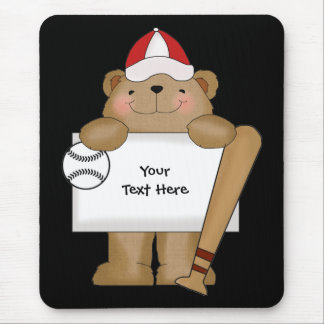 Baseball Bear Bulletin (customizable) Mouse Pad