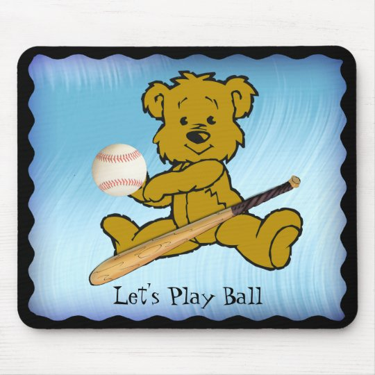 BASEBALL BEAR-MOUSEPAD MOUSE PAD