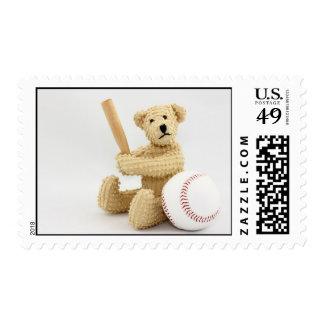 Baseball Bear Postage Stamp