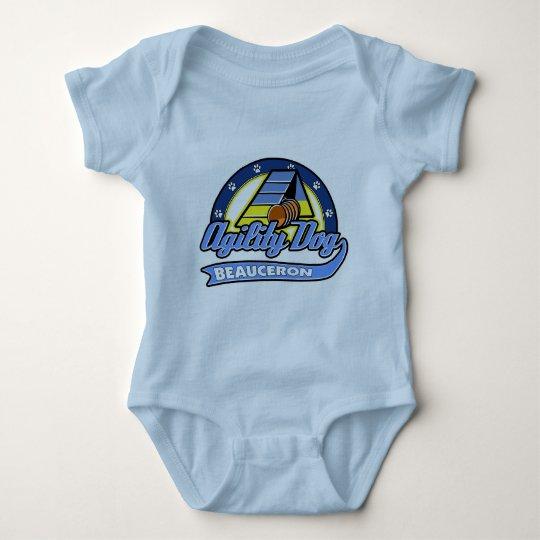 Baseball Beauceron Agility Baby Bodysuit
