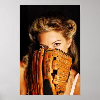 Baseball Beauty Poster