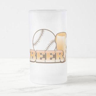 BASEBALL & BEER design by The Beer Shop Frosted Glass Beer Mug