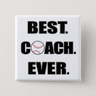Baseball Best Coach Ever Button