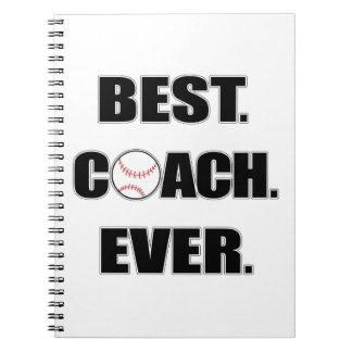 Baseball Best Coach Ever Notebook