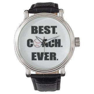 Baseball Best Coach Ever Wrist Watch
