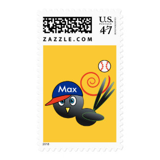 Baseball bird postage