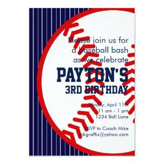 Baseball Birthday 5x7 Paper Invitation Card