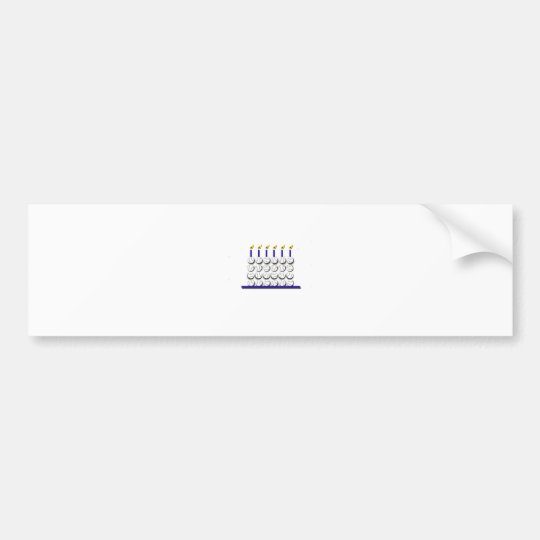Baseball Birthday Cake Bumper Sticker