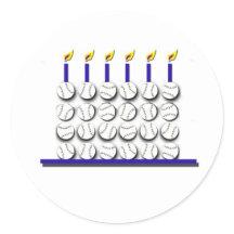 Baseball Birthday Cake on Baseball Birthday Cake Round Stickers