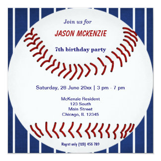Baseball Birthday Cards Invitations Greeting Photo Cards Zazzle