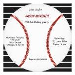 Baseball Birthday Custom Announcements