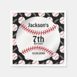 Baseball Birthday Design | Personalize Paper Napkin