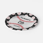 Baseball Birthday Design | Personalize Paper Plate