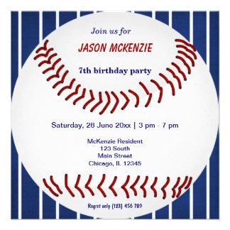 Baseball Birthday Custom Invite