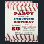 """Baseball Birthday Invitation<br><div class=""""desc"""">This Baseball themed invitation is perfect for birthday celebrations,  Playoff or World Series Parties. Each line of text is fully customizable to say just what you want!</div>"""