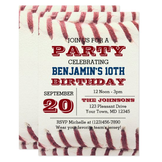 Baseball Birthday Invitation