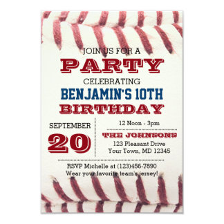 Baseball Invitations & Announcements | Zazzle