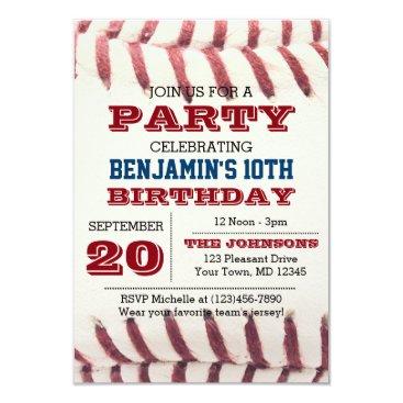 birthday Baseball Birthday Invitation