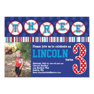 Baseball Birthday Invitation (3rd Birthday)