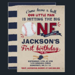 """Baseball Birthday Invitation Baseball 1st Birthday<br><div class=""""desc"""">A perfect Way to announce your Baseball Birthday party! Design are all &#169; PIXELPERFECTIONPARTYLTD</div>"""
