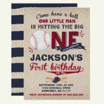 Baseball Birthday Invitation Baseball 1st Birthday
