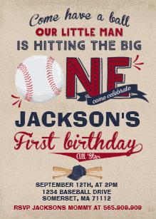 Vintage Baseball Invitations